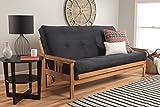 Kodiak Furniture Monterey Queen Size Futon Set, Suede Black