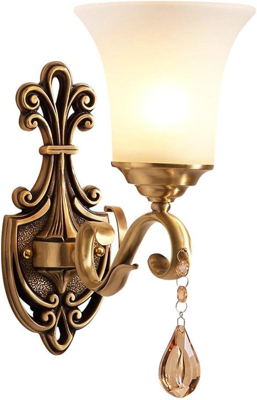 disfrutando de sus compras XH shop Lámpara Lámpara Lámpara de parojo de cobre País de América Pasillo balcón balcón pasillo fondo parojo cama lámpara de parojo de cobre (Style   A)  entrega rápida