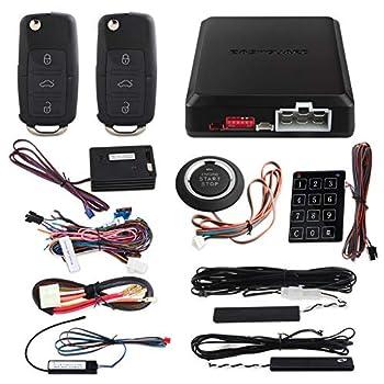 EASYGUARD EC002-V-NS Passive keyless Entry PKE car Alarm Push Button Start Remote Engine Start Touch Password keypad Entry Vibration Alarm DC12V