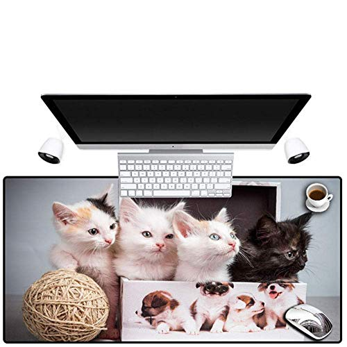 Preisvergleich Produktbild Mauspad matte Mauspad for Gaming Große Größe Hohe Geschwindigkeit Hohe Präzision Niedlichen Tier Katze Mauspad Gummi Große Größe Waschbar Geeignet for Pc Spiel Home Office Schreibtisch Pc Player Lapto