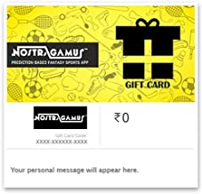 Flat 5% off at checkout||NostraGamus E-Gift Card