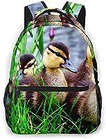 キリンと森の中の鳥 リュックバック リュックナップザック バッグ ノートパソコン用のバッグ 大容量 バックパックチ キャンパス バックパック 大人のバックパック 旅行 ハイキングナップザック Free Size
