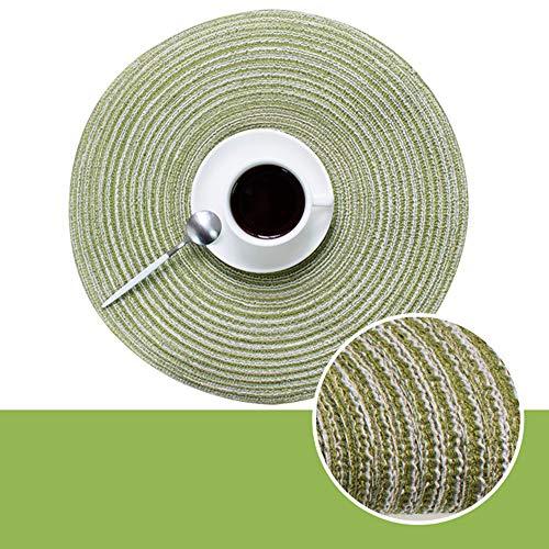Rundes Westernpad – Baumwolle Isolierung Anti-Heißgarn Platzset Becherkissen Pad für Zuhause, grün, 35 cm