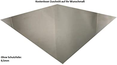 B /& T T/ôle daluminium lamin/ée Blanc laqu/é Plaque Alu 1,0/mm d/épaisseur Transport Blanc RAL 9016/unilat/éralement avec film de protection d/écran en D/écoupe