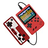 TECTINTER Retro Portable Mini Handheld Video Game Console 8-Bit 3.0 Inch Color LCD Color Game Player Built-in 400 FC Games Support for Connecting TV & Two Players Present for Kids and Adult(Red)