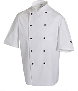 Dennys Long sleeve chefs jacket with removable studs (DD20)
