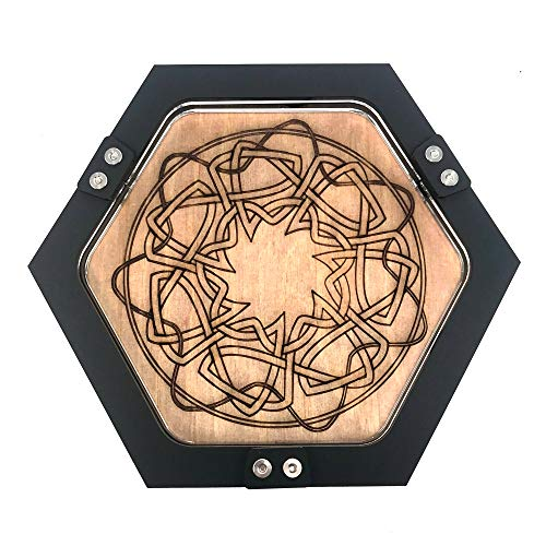 C4Labs Mini Personal Size Gaming Celtic Knot Design Dice Tray
