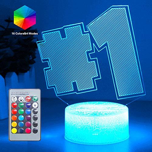 Speelliefhebber 3D nachtlampje LED speelgoed jongen cadeaus nachtlampje nachtkastje 16 kleuren tafellamp ideeën geschenk 3D illusie licht voor verjaardagsfeestdag Kerstmis Halloween party