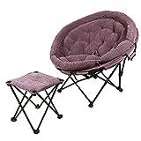 YLYAB Folding Moon Chair Saucer Padded Comfort...