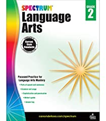 Spectrum Language Arts for Grade 2 includes focused practice for language arts mastery Features parts of speech and sentences, grammar and usage, and capitalization and punctuation Includes a writer's guide and answer key 176 pages