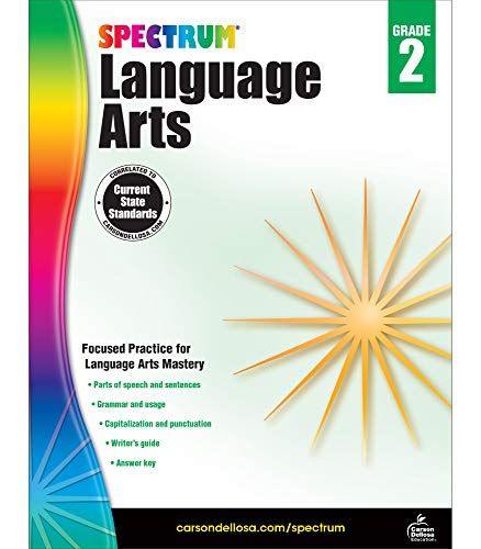 Spectrum Grade 2 Language Arts Workbook—2nd Grade State Standards, ELA Writing and Grammar Practice With Writer's Guide and Answer Key for Homeschool or Classroom (176 pgs)