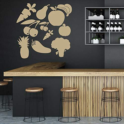 Tianpengyuanshuai wandtattoo set keuken restaurant decoratie vinyl stickers deuren en ramen kinderen verlichting