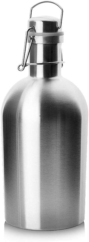 WAN SAN QIAN- Stainless Steel Wine Barrel Portable Jar Seal No Water Leakage Multifunction Non-Slip Wine Cask Wine Rack (Size   28×4.7×11cm)