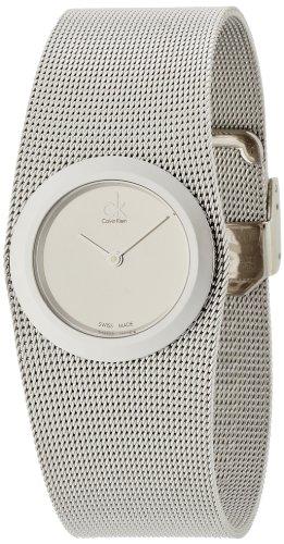 Calvin Klein Damen Analog Quarz Uhr mit Edelstahl Armband K3T23126