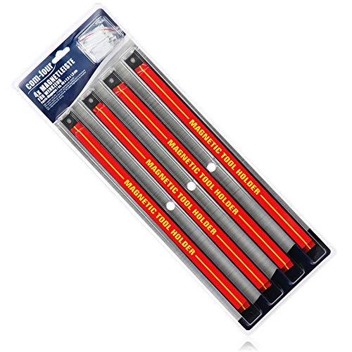 com-four® 4X Magnet Werkzeughalter - Magnetleiste für Werkzeug - Magnetschiene für die Werkstatt...