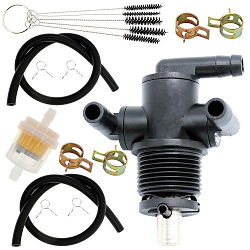 QAZAKY 3-Way Fuel Shut Off Valve Petcock Replacement for Polaris 7052161 ATP ATV Magnum Ranger Sportsman Trail Blazer Boss Worker Xpedition Xplorer 325 330 335 400 425 500 600 700