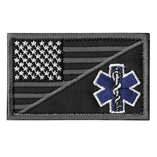 LEGEEON ACU EMS EMT USA Flag Subdued Paramedic Medical Morale Tactical Army Gear Touch Fastener Patch