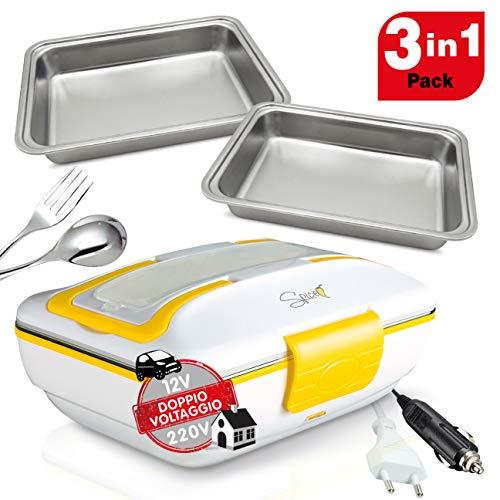 Spice - Calientaplatos SET Doppio Voltaggio + 2 Vaschette 1 L amarillo