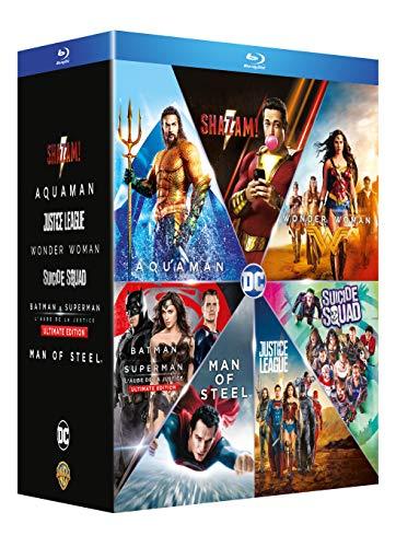 DC Universe - L'intégrale des 6 films : Justice League + Wonder Woman + Suicide Squad + Batman v Superman : L'aube de la justice + Man of Steel + Aquaman [Francia] [Blu-ray]