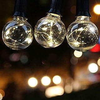 LED Outdoor String Lights - Quarlife Waterproof Patio String Lights - 35FT 30Bulbs G40 Globe String Lights Outdoor Decorat...