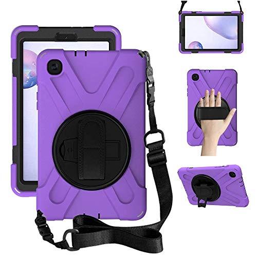 ZenRich Galaxy Tab A 8.4 Case (2020), SM-T307/SM-T307U Case with Kickstand Hand Strap and Shoulder Strap zenrich Heavy Duty Shockproof Case for Samsung Galaxy Tab A 8.4 T307 Verizon/Sprint (Purple
