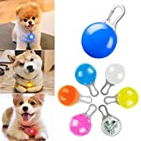 6 PCS Clip-on Dog Cat Collar Lights, LED Pet Collar Charm Lights Colorful Safety Handfree Lights for Night Walking, Waterproof Clip-On LED Light with Carabiner, 3 Flashing Models,Weather Resistant
