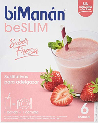 biManán - beSLIM - Sustitutivos para Adelgazar - Batido Fresa - 6uds 330 gr