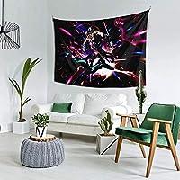 奇妙な冒険アニメヴィンテージヨガタペストリー壁掛けインド美術家の装飾タペストリー寝室の装飾リビングルームドアカーテンルームディバイダー60X40