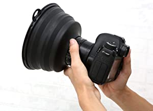 Ultimate Lens Hood Black Silicone Cone That extends Over Any Lens, Blocking Unnecessary Glare and Emission (Upgrade)