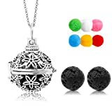 Lava Stone Aromatherapy Essential Oil Diffuser Necklace Pendant/Locket Antique Silver with 24' Chain...