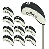 Callaway Number Tag Golf Club Head Covers for Iron Heads 10pcs/set Black/white