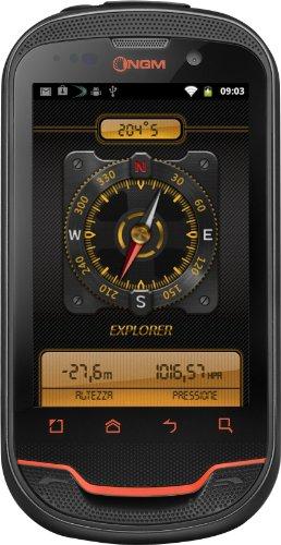 NGM WeMove Explorer Smartphone, Dual SIM, Nero Arancione