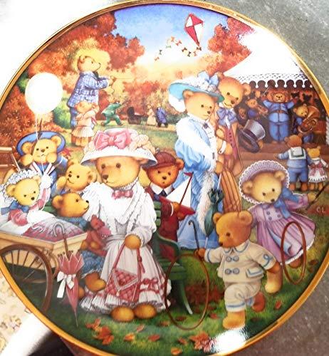 Franklin Mint Teddy bear plate Teddy Bear Outing Carol Lawson - CP1787 -  5055382611523