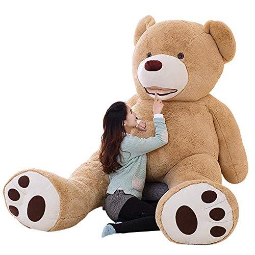 kaige Amérique du géant Ours en Peluche Peluches Peau d'ours Populaire Anniversaire Saint-Valentin Cadeaux for Les Filles (Couleur: 130cm) WKY (Color : 130cm)