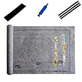Puzzle Mat, Puzzle Roll Jigsaw Storage Felt Mat Play Mat Puzzles Blanket for Up to 1500 Pieces Puzzles Travel Storage Bag Board for Adults Kids Gifts - Preserve Your Finished Puzzle (Gray)