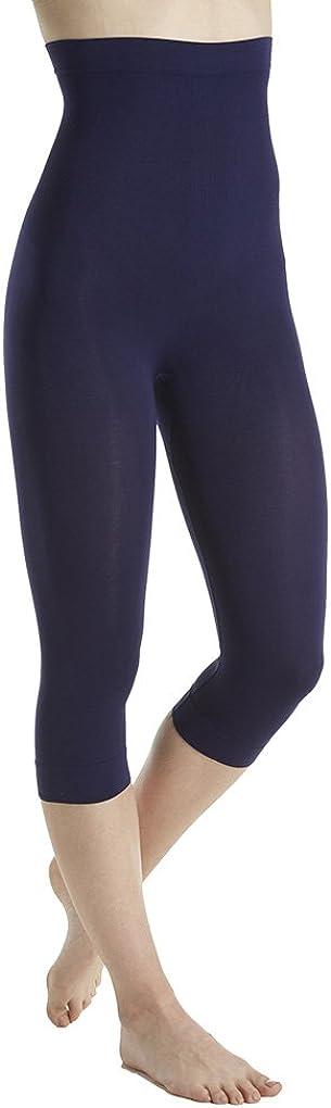 Rhonda Shear Women's Seamless Shaping Capri Legging 1388 3X Navy