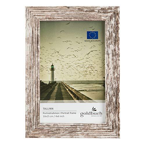 goldbuch 92 0492 Tallinn Vintage - Marco de fotos (madera, para fotos en formato 10 x 15 cm, con soporte y soporte de pared, marco individual de MDF, marco de fotos