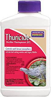 Bonide (BND802) - Leaf Eating Worm & Moth Killer, Thuricide Bacillus Thuringiensis (Bt) Outdoor Insecticide/Pesticide Liquid Concentrate (8 oz.)