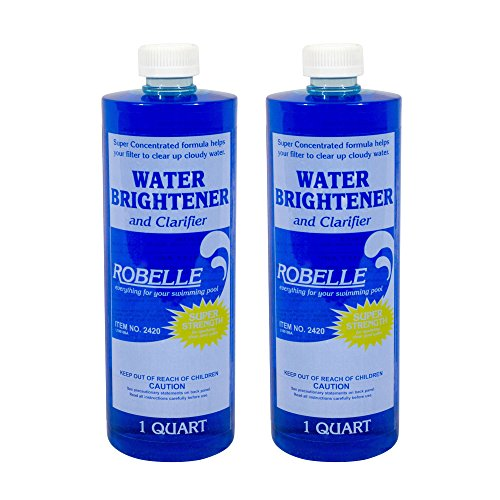 Robelle 2420-02 Water Brightener and Clarifier for Swimming Pools, 1-Quart, 2-Pack