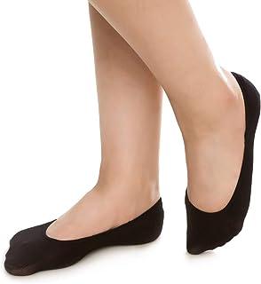 Women No Show Socks Non Slip Hidden Invisible Flat Boat Line 6/12 Pairs