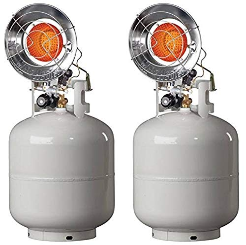 Mr. Heater MH15T Single Tank Top Outdoor Propane Heater (Pack of 2)