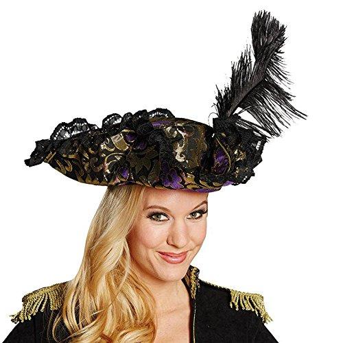 Mottoland Kostüm Zubehör Damen Piratenhut Edel Piratin lila Karneval Fasching