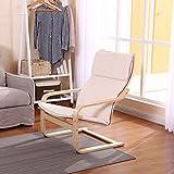sknonr Lazy Chair Einzelsessel Startseite Balkon Einfacher Sessel (Color : Gray)