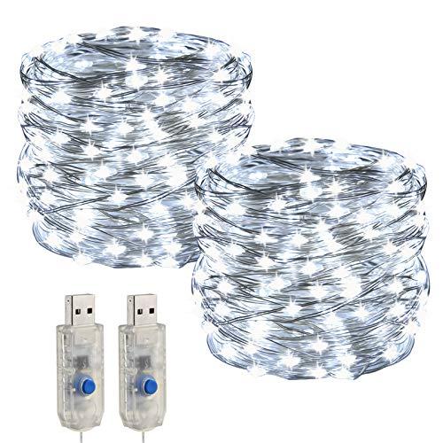 [2 piezas] USB LEDs Cadena de Luz ,Impermeable IP68 de Hadas Guirnalda...