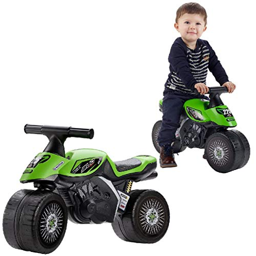 Falk–400–Bicicletta e veicolo per bambini–Moto Xrider–Verde