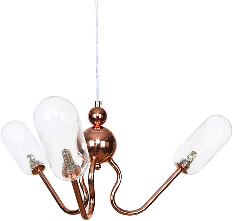 SXMY 3 Lichter - Moderne Kreativitt Glas Kronleuchter Moderne Pendelleuchte LED Innenleuchte Deckenleuchte Für Wohnzimmer Schlafzimmer-Transparent-A
