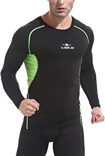 Men's Long Sleeve Round Neck Compression Top Tights Run Sport T-Shirt