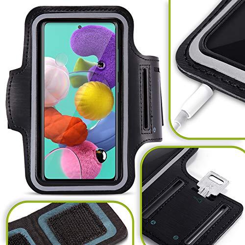 NAUC - Custodia per cellulare compatibile con Samsung Galaxy A41, colore nero