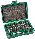 Neiko 10064A 1/4' Hex Security Screwdriver Bit Set, 36 Piece | Includes Storage Case & Quick-Change Magnetic...