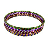 GAX Glitter Hula Hoops - Multicolour Sporting Good - Weight Loss Games - Fitness Activity Hula Hoops - Exercise Hula Hoops for Unisex Kids & Adults - Sports Dance Rings Pack of 1 Small (40-45 cm)
